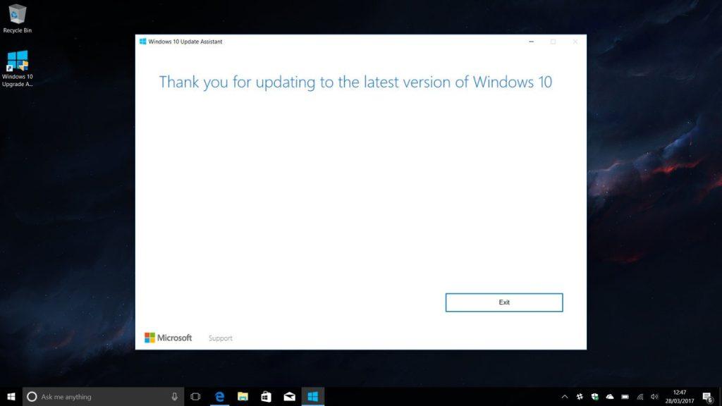 دستیار آپگرید لو رفتهی ویندوز ۱۰ به شما امکان آپگرید به نسخهی کریچرز را میدهد.